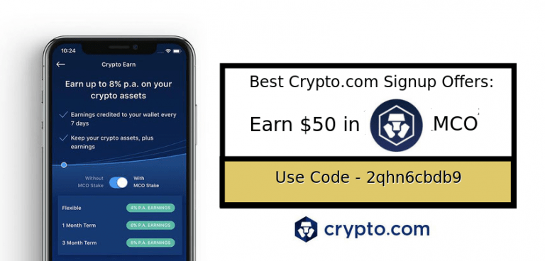 crypto signup bonuses referral and promo codes