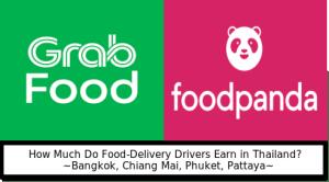 Thailand food deliver driver wage uber grab foodpanda
