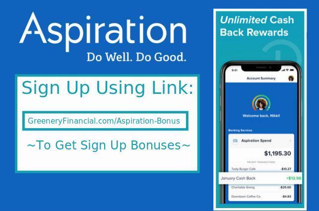 Aspiration Bank Referral Codes Sign Up Bonus