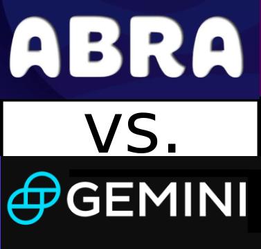 abra wallet vs gemini