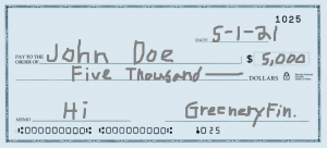 write endorse check in pencil example