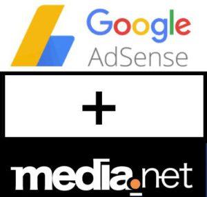 google adsense and media net together